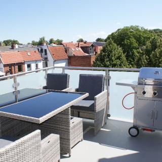 Ferienwohnung Steilküste mit Dachterrasse Nähe Marktplatz - 220 - Wismar