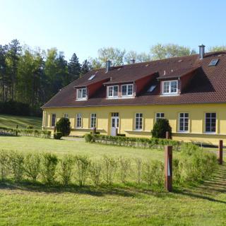 Gut Rattelvitz Parterre C, hochwertig, Sauna, Kamin, eTankstelle, Spielscheune, 15.000qm Parkland  - Gingst