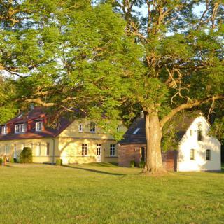 Gut Rattelvitz Galerie F, hochwertig, Sauna, Kamin, eTankstelle, Spielscheune, 15.000qm Park Land - Gingst