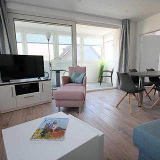 Große Ferienwohnung 3 mit Meerblick und Strandkorb im Haus Seeluft Duhnen - Cuxhaven