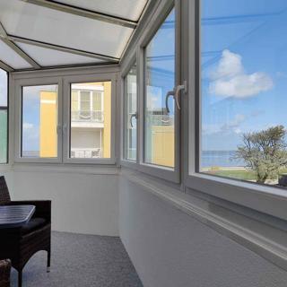 Große Ferienwohnung 14 mit Meerblick und Strandkorb im Haus Seeluft in Duhnen - Cuxhaven