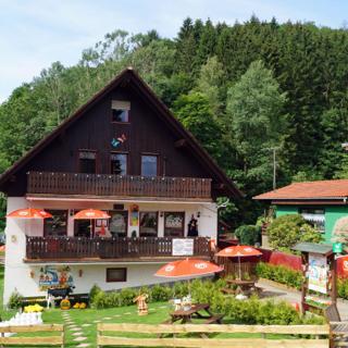 Gruppenunterkunft die Naturperlen mit 2 miteinander verbundenen Wohneinheiten für 10 Personen in Sieber - Herzberg